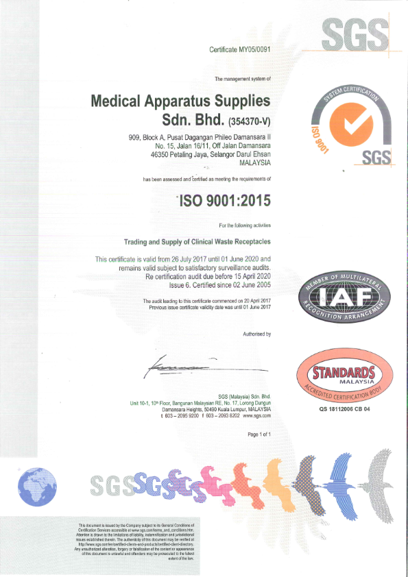 ISO 9001:2015 - For Quality Management System
