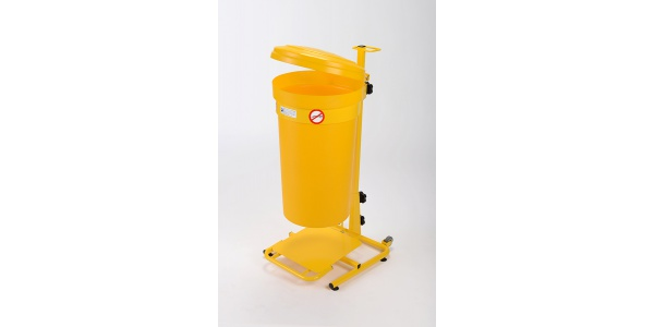 Mobile Pedal Operated Clinical Waste Bins 45 litre